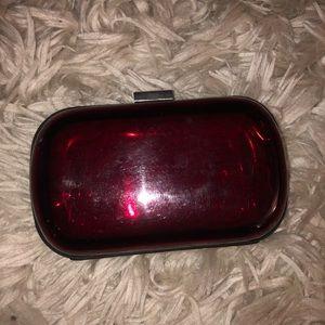 Red BCBG Pill Clutch